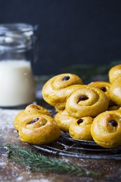 Swedish Lucia Saffron Buns and Video