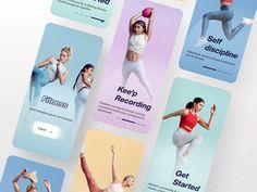 Fitness Tracker App, Fitness Logo, Fitness App, App Design, Branding Design, Logo Design, Paper Bag Design, App Ui, Ui Ux