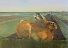 By Brown hare by Andrew Haslen, Great Fen - Artists for Nature Foundation