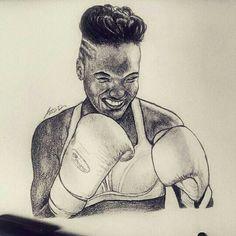 Nicola Adams #boxing #portrait #drawing #sketch #blackwoman #blackart #olympicchampion  https://www.instagram.com/diiakass/