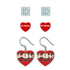 One Direction Merchandise: One Direction Earring Set: One Direction Merchandise