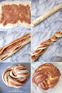 Cinnamon Wreath - Braided Bread with Cinnamon and Sugar - Nombelina's Foodblog