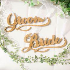 ウェディング木製チェアサイン Vanilla, Groom, Bride, Wedding, Chic, Decor, Mariage, Shabby Chic, Decorating