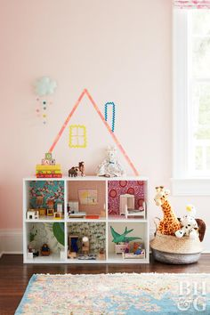 When using paint to decorate your child's room, think in broad strokes: saturated colors, epic images, vivacious finishes, and dynamic patterns best reflect a kid's joyful perspective and no-holds-barred attitude. These paint ideas for kids' rooms will make your child's bedroom a fun hangout to spend time in. #kidsroomideas #paint #homedecor