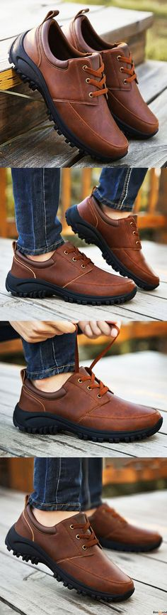 US$48.99 + Free shipping. Men Casual Business Wear Resistance Outsole Comfy Soft Ankle Oxfords Shoes. Comfy and casual. You may need one for daily wear. Shop at banggood now.