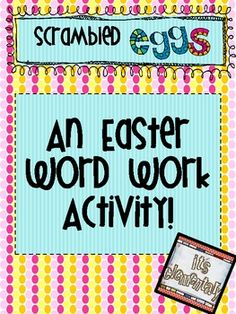 This FREEBIE includes directions on setting up a scrambled egg center in your classroom and color and black and white recording sheets.  You pick t...