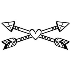Silhouette Design Store: tribal love arrows