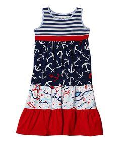 Fish Boho Tiered Maxi Dress - Toddler & Girls