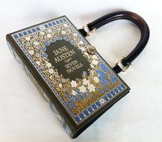 Jane Austen livre relié cuir sac - cadeau de disciple de Jane Austen - carnet de sante sac à main de sac à main - accessoire livresques de Jane Austen - Jane Austen