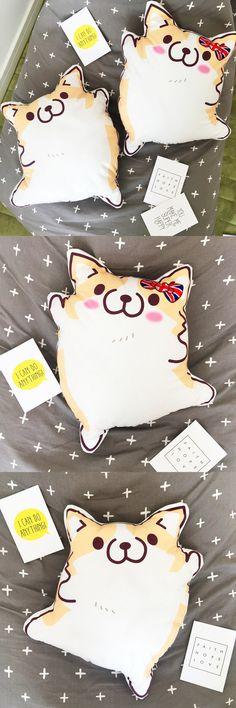 1pc 45cm Cartoon Figure Corgi Plush Pillows Stuffed Cute Animal Plush Cushion Kids Toys Birthday Gift $14.5