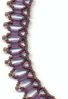 Amethyst Netted Beadwoven Necklace With by FeithHodgeCreations, $25.00