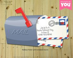 MAILBOX Invitation  Personalized DIY Printable by PiggyBankParties, $18.00