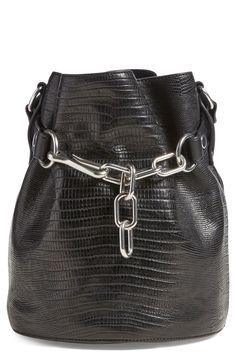 Alexander Wang 'Alfa' Lizard Embossed Leather Bucket Bag