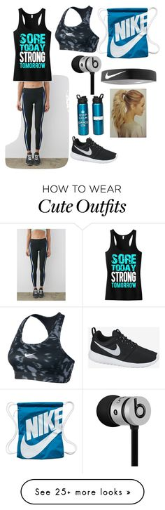 """My workout outfit"" by joyannl on Polyvore featuring Forever 21, NIKE and Beats by Dr. Dre"