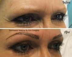 Before and After hairstroke eyebrows using the Microstroking technique!