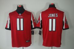 Falcons #11 Jones red NIKE NFL Jersey  ID:933610759  $23