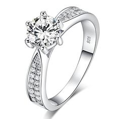 Brilliant Exquisite Round Pave Set Cubic Zirconia Sterling Silver Ring Size 8 Jewelry & Watches