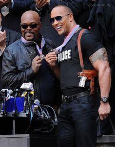 Dwayne Johnson & Samuel L. Jackson Cop Out [On Set]