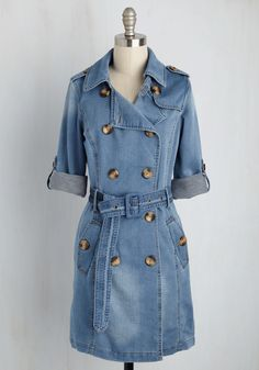 New Arrivals - Denim Delights Trench Carhartt Denim Jacket, Trenchcoat Style, Denim Fashion, Star Fashion, Casual Dresses, Fashion Dresses, Mode Mantel, Beauty And Fashion, Denim Outfits