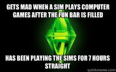 Yeah... but seriously though I pretty much never have a computer in my sims houses anymore it gets out of hand