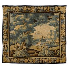 Regence Period Aubusson Tapestry with Landscape Scene, c. 1720 | From a unique collection of antique and modern tapestries at http://www.1stdibs.com/furniture/wall-decorations/tapestry/