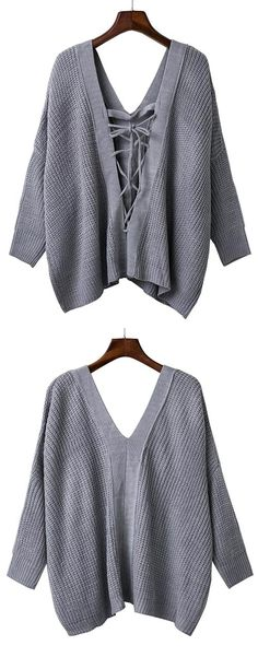 You definitely cannot miss this sweater! The lace-up v neck design provides a sense of elegance and drop shoulder represents feminity. More clothes are waiting for you at Cupshe.com!