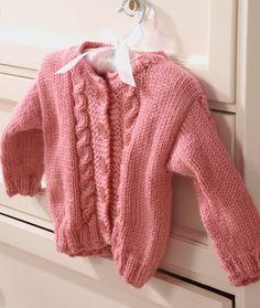 Princess Cardigan Knitting Pattern | Red Heart