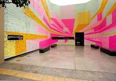 Galeria Melissa // post it note installation