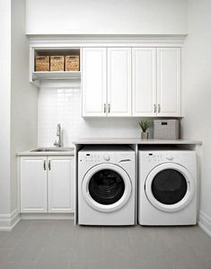 Awesome Charming Small Laundry Room Design Ideas For You. room design layout Charming Small Laundry Room Design Ideas For You Laundry Room Tile, Tiny Laundry Rooms, Laundry Room Layouts, Laundry Room Remodel, Basement Laundry, Laundry Room Organization, Laundry Room Design, Laundry Closet, Basement Storage