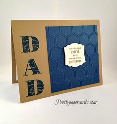 #dad  #fathersday #guyscard #stampinup #handmadecard