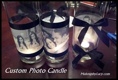 Make your own candle holder with sweet moments.