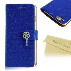 Mavis's Dairy Rose Wallet Case for iPhone 6s Plus New!!! iPhone 6s Plus Case ,Mavis's Dairy 3D Handmade special shiny Bling Diamond Rose folia Claps design Pattern leather Credit Card slots wallet case With hand wrist strap. Mavis's Dairy Accessories Phone Cases