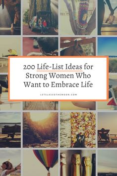 200 life-list ideas for women who want to embrace life. If you're thinking of writing a bucket list, this is a great starting point. Self Development, Personal Development, Lasso The Moon, Learning Time, Life List, Family Traditions, Simple Things, Modern Family, Strong Women