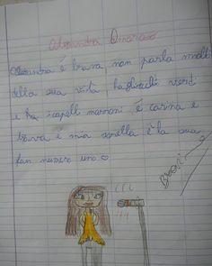 #AlessandraAmoroso Alessandra Amoroso: Qualche giorno fa c'era un tweet con questa immagine: il tema di questo piccolino che parla di me.. ❤️!! la #BigFamily più bella del mondo ce l'ho io!! Vi leggo sempre appena posso... #AmioModoViAmo #LontaniMaSempreVicini #AmorePuro