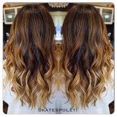 Perfect blended blonde ombré , love this ombré