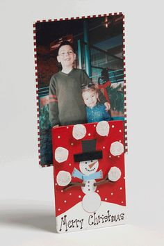 Kids Holiday Photo Holder, for kids to make as parent gift