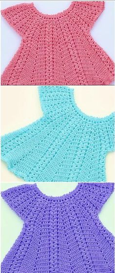 Fast And Easy Baby Dress Hi crochet lovers around the world! Today we have discovered very beautiful fast and easy baby dress video tutorial just. Pull Crochet, Baby Girl Crochet, Crochet Baby Clothes, Crochet For Kids, Crochet Ideas, Crochet Baby Dresses, Crochet Patterns, Crochet Summer, Free Crochet