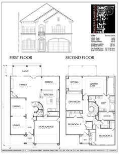 simple two story house floor plans - 2 Storey House Plans