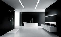 33 Stunning Modern Bathroom Ceiling Lights For Cozy Bathroom Ideas Minimalist Bathroom Design, Minimal Bathroom, Modern Bathroom Design, Minimalist Interior, Bathroom Interior Design, Bathroom Designs, Bathroom Ideas, Bath Design, Minimalist Design