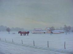 dany persoons, Trekpaarden in de sneeuw... on ArtStack #dany-persoons #art