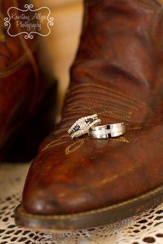 Cowboy boots and wedding rings @Amy Lyons Lyons Lyons Lyons Swindell nice idea for maybe a future wedding shot lol