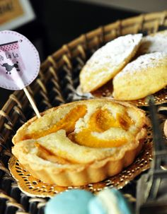 Our star- Peach and almond paste tartlet in May's Bake Box.   Order at www.bakebox.in