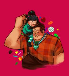Wreck-It Ralph & Vanellope Von Schweetz. ONE OF MY FAVORITES. SHE SHOULD BE A DISNEY PRINCESS! :o :o :o :o LOVE YOU VANELLOPE AND RALPH. :)