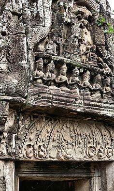 Bayon - Temple Detail, Angkor Thom, Cambodia