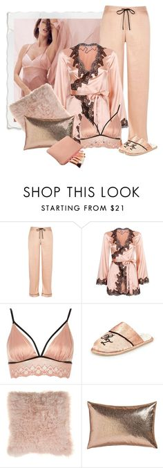 """""""Lingerie"""" by kimzarad1 ❤ liked on Polyvore featuring River Island, Agent Provocateur, Bloomingville and CB2"""