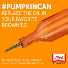 Replace the oil in your baked goods to improve the nutrition #PumpkinCan