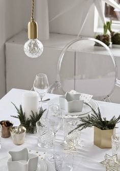 by THERESE KNUTSEN Table Settings, Xmas, Table Decorations, Creative, Furniture, Home Decor, Christmas, Decoration Home, Room Decor