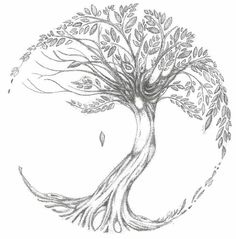 Tree of life tattoo sketch Would be stunning on the lower back!