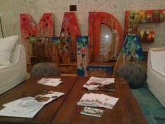 MADE IN LA wood letters Graffiti Furniture Cisco Home Los Angeles architecture and design film festival