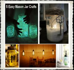 Mason Jar Crafts! I'm doing the glow in the dark jar for my kids room!